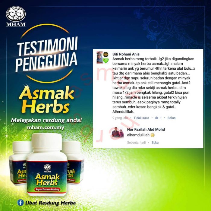 Testimoni Asmak Herbs